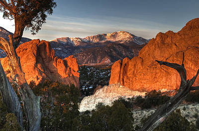Winter Landscapes Photograph - Classic Garden Of The Gods by Mike Berenson