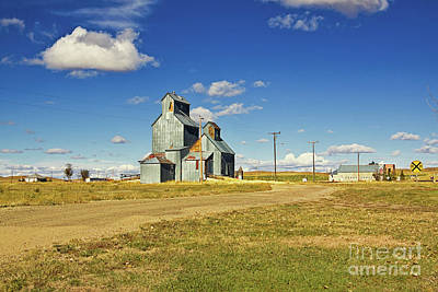Photograph - Classic Ghost Grain Elevators by Tatiana Travelways