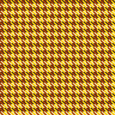 Digital Art - Classic Gold Houndstooth Check by Jane McIlroy