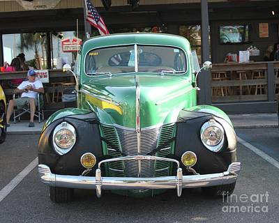 Photograph - Classic Green Antique Ford by Dodie Ulery