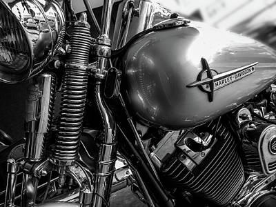 Classic Harley Davidson Art Print by Georgia Fowler