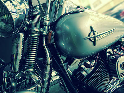 Classic Harley Davidson Sportster Art Print by Georgia Fowler