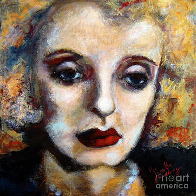Character Portraits Painting - Classic Hollywood Movie Stars Bette Davis by Ginette Callaway