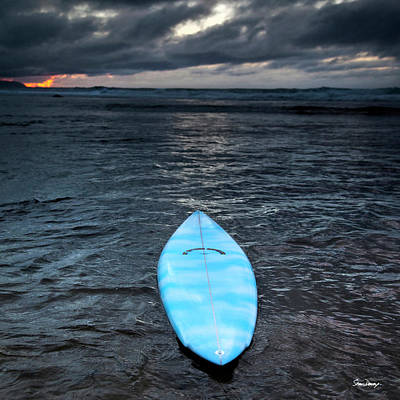 classic Hot Buttered surfboard at Rocky Point, Hawaii Art Print