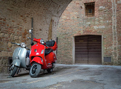 Rights Managed Images - Classic Italian Vespa Legend  Royalty-Free Image by Michalakis Ppalis