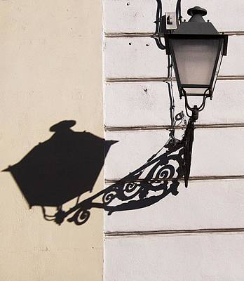 Photograph - Classic Lampost And Shadow by David Resnikoff