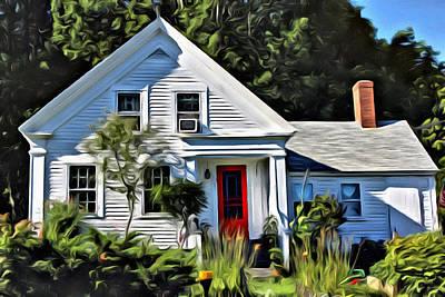Damariscotta Painting - Classic Maine New Englander by  Judy Bernier