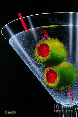 Drinks Painting - Classic Martini by Michael Godard