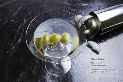 Martini Royalty-Free and Rights-Managed Images - Classic Martini with Recipe by Karen Foley