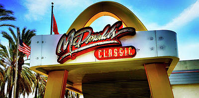 Photograph - Classic Mcdonald's Sign by Joseph Hollingsworth