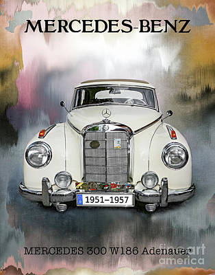 Mixed Media - Classic Mercedes-benz 300 by Gabriele Pomykaj