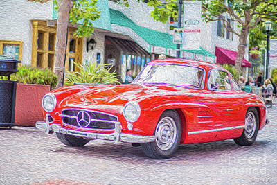 Steele Painting - Classic Mercedes Benz by Jon Ma