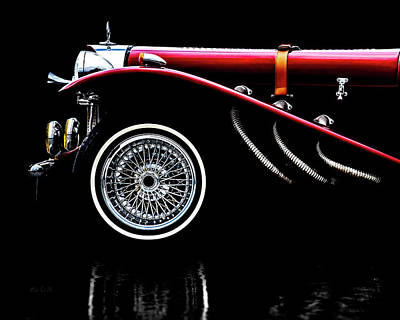 Classic Mercedes Benz Ssk Art Print by Bob Orsillo