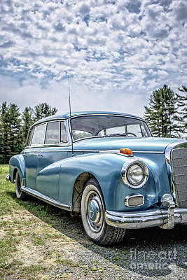 Photograph - Classic Mercedes Old Four Door Sedan by Edward Fielding