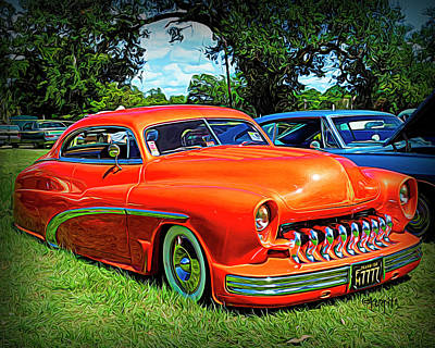 Digital Art - Classic Mercury Lead Sled by Rebecca Korpita