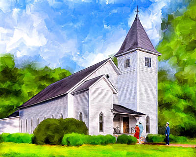 Mixed Media - Classic Methodist Church - Oglethorpe Georgia by Mark Tisdale