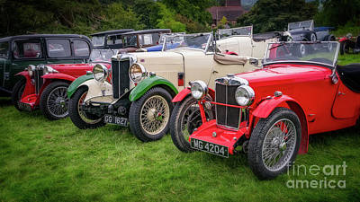 Photograph - Classic Mg Cars by Adrian Evans