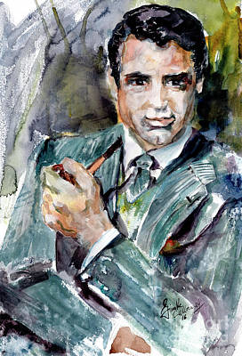 Painting - Classic Movies Actor Cary Grant  by Ginette Callaway
