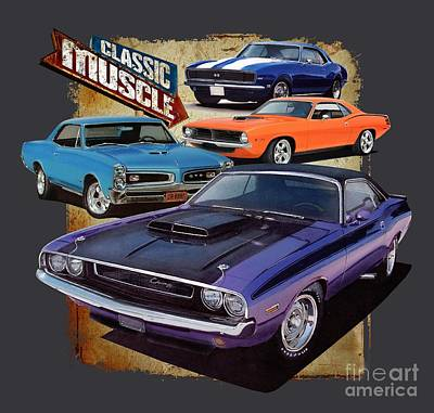 Classic Muscle Art Print by Paul Kuras