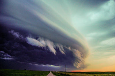 Classic Nebraska Shelf Cloud 027 Art Print