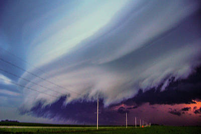 Classic Nebraska Shelf Cloud 028 Art Print