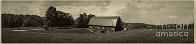 Photograph - Classic New England Antique Panoramic by Edward Fielding