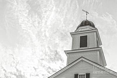 Classic New England Church Etna New Hampshire Art Print by Edward Fielding