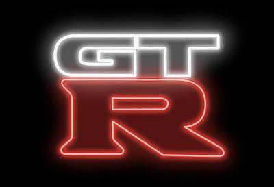Digital Art - Classic Nissan Gtr Neon Sign by Ricky Barnard