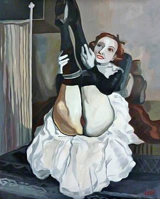 Classic Nude 6 Art Print by Carmen Stanescu Kutzelnig