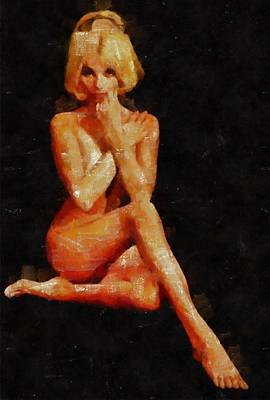 Pussy Painting - Classic Nude by Mary Bassett