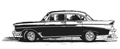 Graphic Images Photograph - Classic Old Car by Edward Fielding