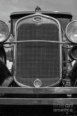 Photograph - Classic Old Ford Car Model A by Edward Fielding