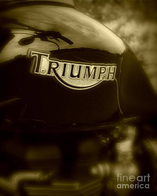 Classic Old Triumph Art Print by Perry Webster