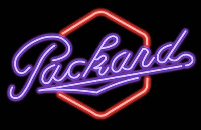 Digital Art - Classic Packard Neon Sign by Ricky Barnard