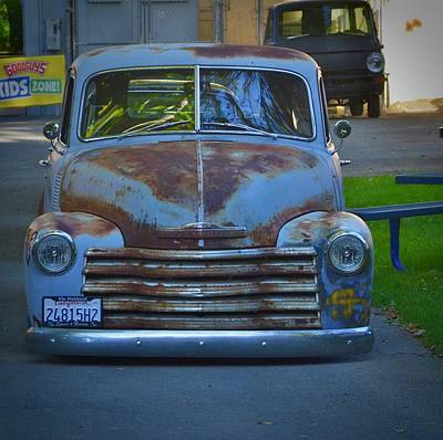 Photograph - Classic Patina Chevy Pickup by Dean Ferreira