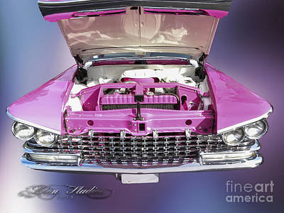 Photograph - Classic Pink Buick by Melissa Messick