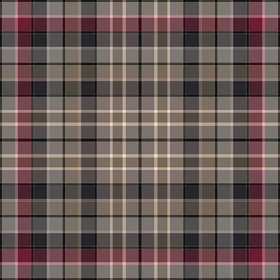 Digital Art - Classic Plaid Pattern In Black, Burgundy, Gray, And Beige by Gina Lee Manley