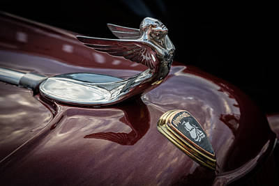 Photograph - Classic Plymouth Hood Ornament by Debra and Dave Vanderlaan