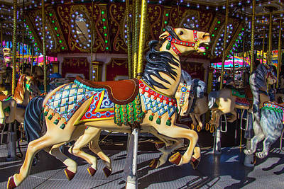 Classic Poney Ride At The Fair Art Print