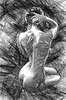 Digital Art - Classic Pose 1458 by Rafael Salazar