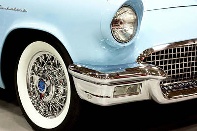 Photograph - Classic Powder Blue Thunderbird  by Tyra OBryant