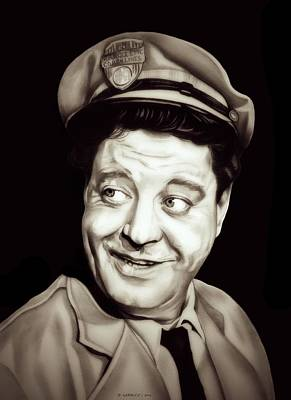 Jackie Gleason Drawing - Classic Ralph Kramden by Fred Larucci