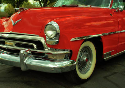 Photograph - Classic Red Chrysler by David King