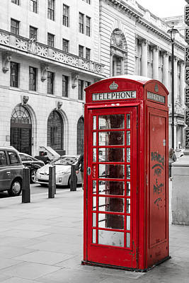 Photograph - Red Telephone Box In London England by John Williams