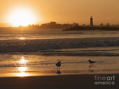 Classic Santa Cruz Sunset Art Print by Paul Topp