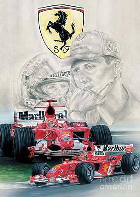 Michael Schumacher Painting - Classic Schumacher by Michael Rogers