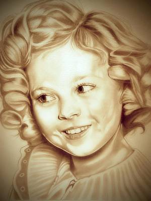 Shirley Temple Drawing - Classic Shirley Temple by Fred Larucci