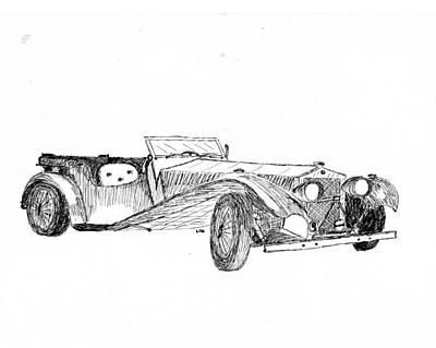 Sportscar Drawing - Classic Sport by Lin Grosvenor