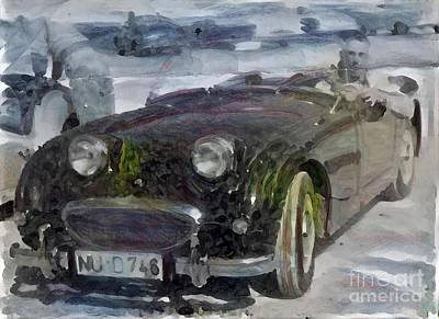 Super Cars Drawing - Classic Sports Car by Douglas Sacha