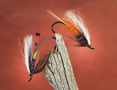Traditional Bells Rights Managed Images - Classic Steelhead Flies Royalty-Free Image by Buddy Mays
